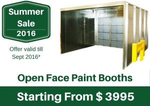 Summer Sale - Open face Spray booth