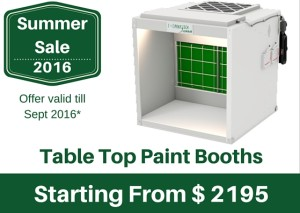 Summer Sale - Table top paint booth