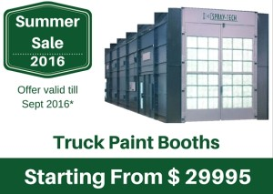 Summer Sale - Truck paint booth